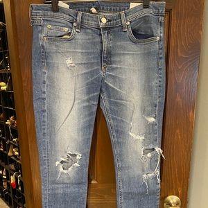 rag & bone crop jeans.